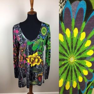Desigual long sleeve tunic size M